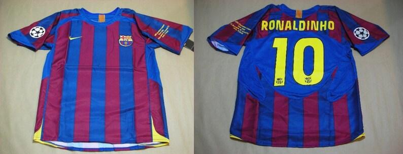 new concept 2888e 965fd fc barcelona 05-06 shirt jersey champions league final london ronaldinho  barça