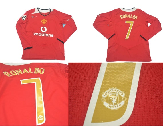 manchester united 04 05 jersey shirt champions league model etsy manchester united 04 05 jersey shirt champions league model cristiano ronaldo shirt jersey playera maglia trikot mesh t shirt red devils