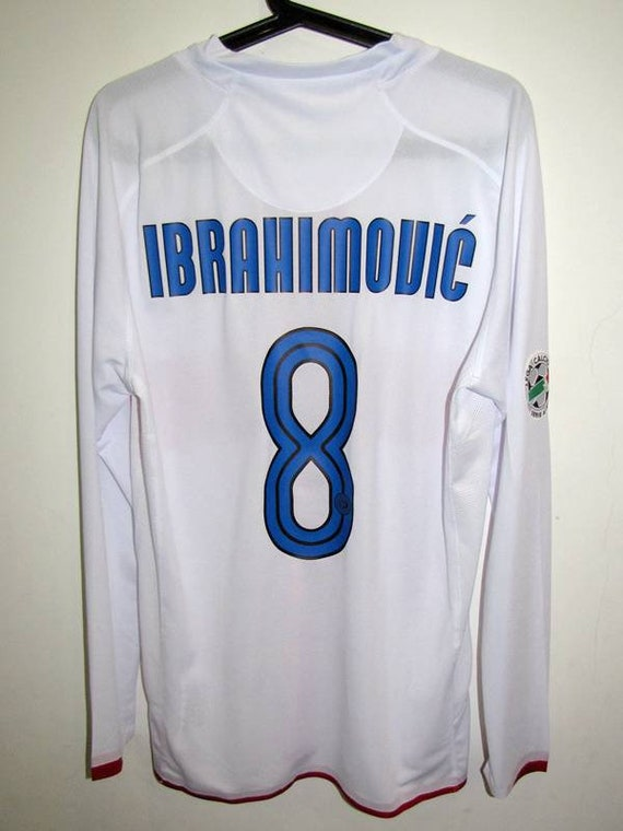 finest selection f8663 6bc4a inter milan centenary long sleeve jersey away serie a style ibrahimovic  intenazionale milan centenary 100th version player shirt