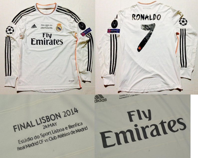 timeless design 7d787 7ccef real madrid jersey champions league final long sleeve 13 14 cristiano  ronaldo ucl final shirt r.madrid