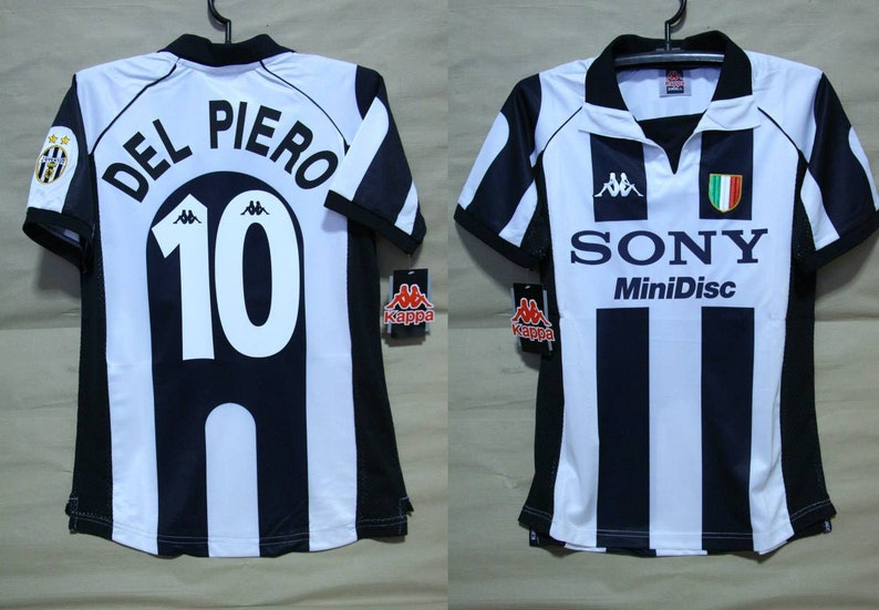 super popular 25f0a 8ef8b Juventus turin 1997 1998 jersey shirt del piero mesh home alessandro serie  a trikot juve maglia