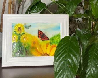 """Encaustic Wax Painting: """"Joy in Motion"""""""