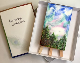"""Give a Gift of Peace: """"Oxygen"""" Encaustic Wax Painting"""