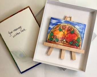 """Give a Gift of Peace: """"A New Dawn"""" Encaustic Wax Painting"""