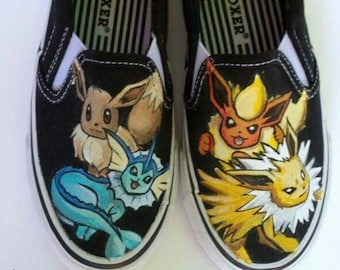 6e36b73a93 Custom Hand Painted Pokemon Shoes