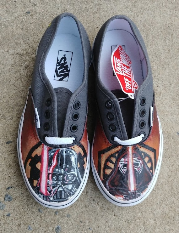403a614bbfbc Custom Hand Painted Star Wars Darth Vader and Kylo Ren Shoes