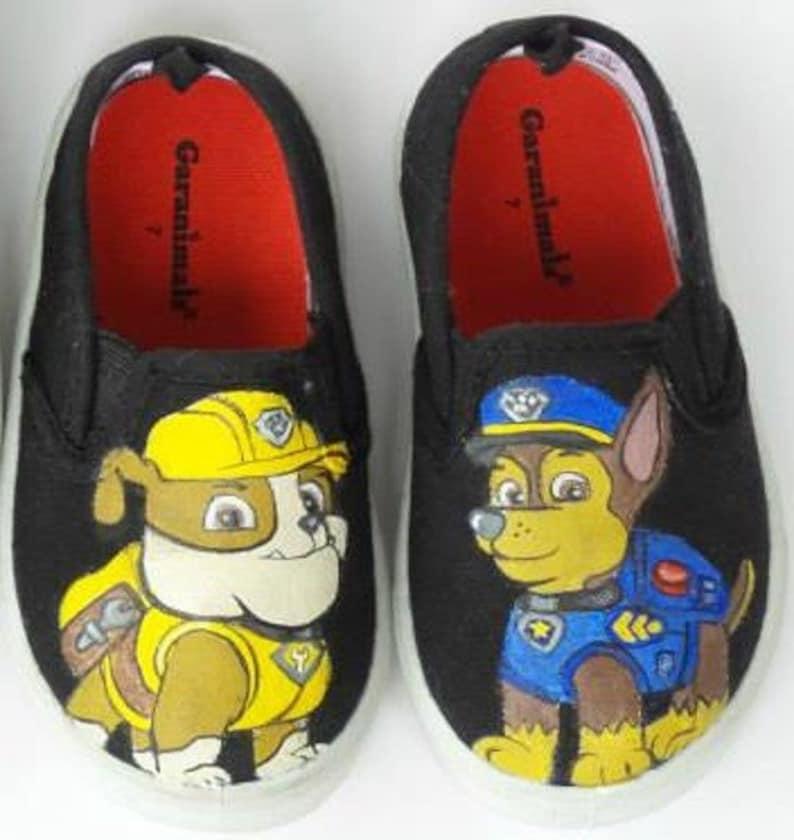 b584463eba1c66 Custom Hand Painted Paw Patrol Shoes