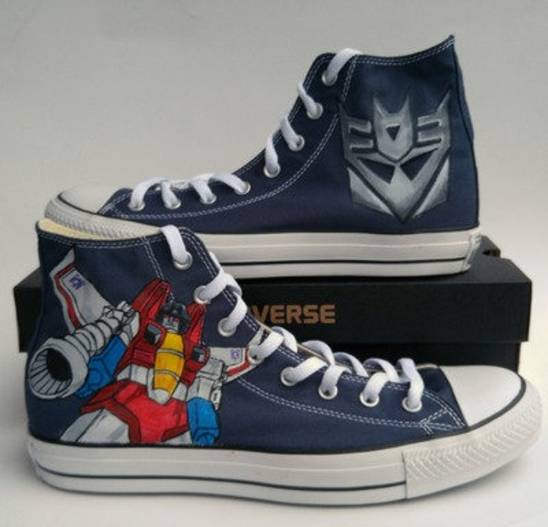 7aa044a113 Transformers and Decepticon Custom Hand Painted Shoes