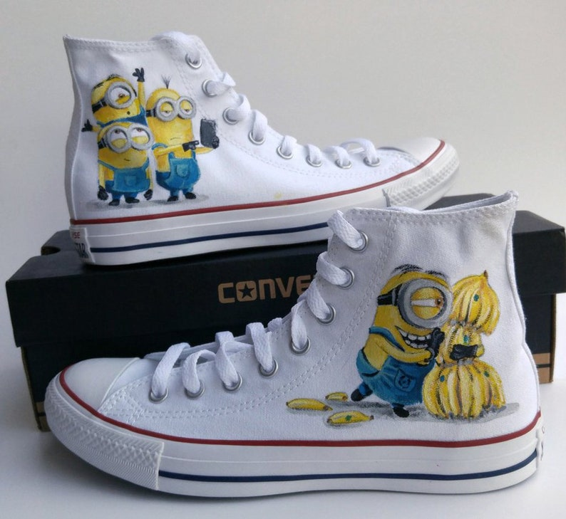 Minions Custom Hand Painted Shoes
