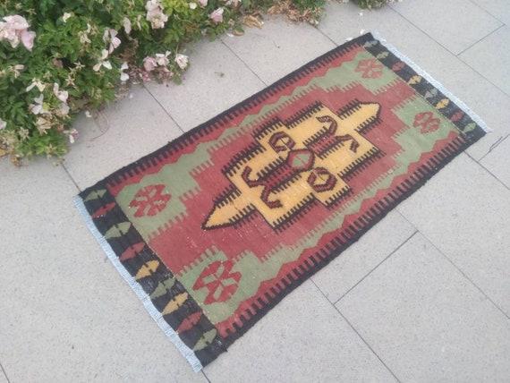 turkish doormat oushak kilim rugs Vintage small turkish kilim rugs rugs kilim doormat small rug handmade small kilim rug small kilim