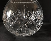 Vintage Crystal Rose Bowl