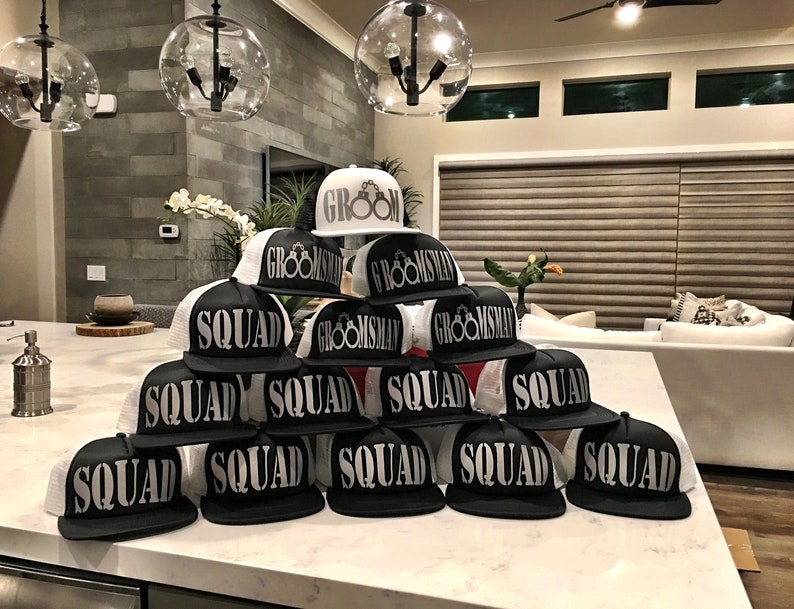 f52f117d Bachelor Party Hats Groom Squad Hats Groom Hat Groom | Etsy