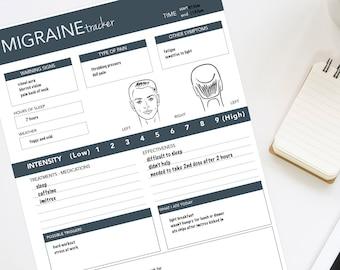 Blue Migraine Tracker For Men