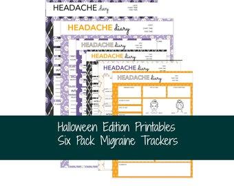 Halloween Migraine Tracker Bundle For Classic Happy Planner