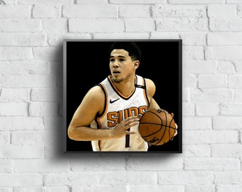 1d0a642f Devin Booker Suns - Sports Art Print Poster - Watercolor Abstract Paint  Splash - Kids Decor - Gifts for Men - Man Cave