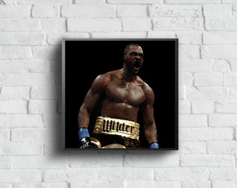 0c28b8f2b Deontay Wilder - Sports Art Print Poster - Watercolor Abstract Paint Splash  - Kids Decor - Gifts for Men - Man Cave