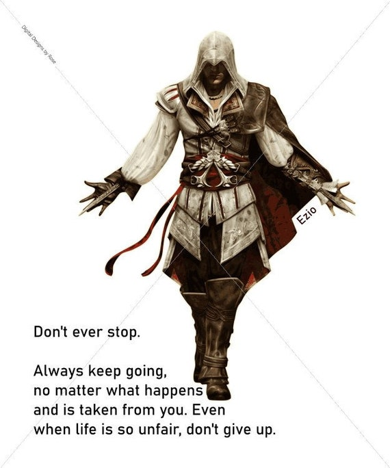 Don T Ever Stop Svg Ezio Quote Eps Assassin S Etsy