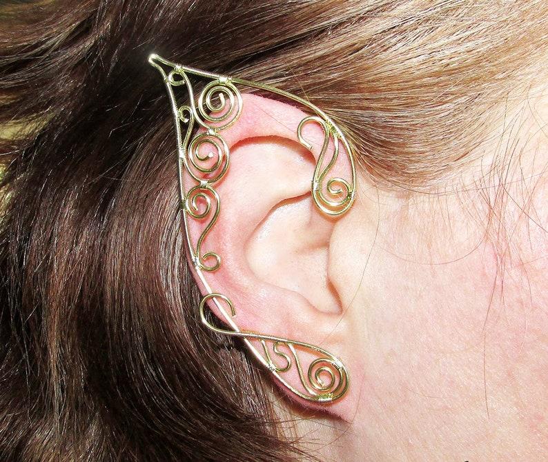 Golden Swirls Elf Ears Wire Elf Ears Elegant Elf Ears Non Etsy