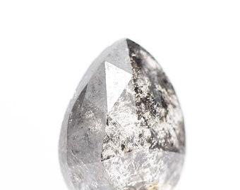 0.35 Ct Natural Loose Salt and Pepper Round Brilliant Cut Diamond  A60