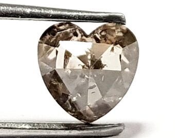 51605651b2 0.97 Carat Natural Diamond Gorgeous Rare Heart Shape Light Brown Natural  Loose Diamond 6 x 6 x 3.5 mm for jewelry design