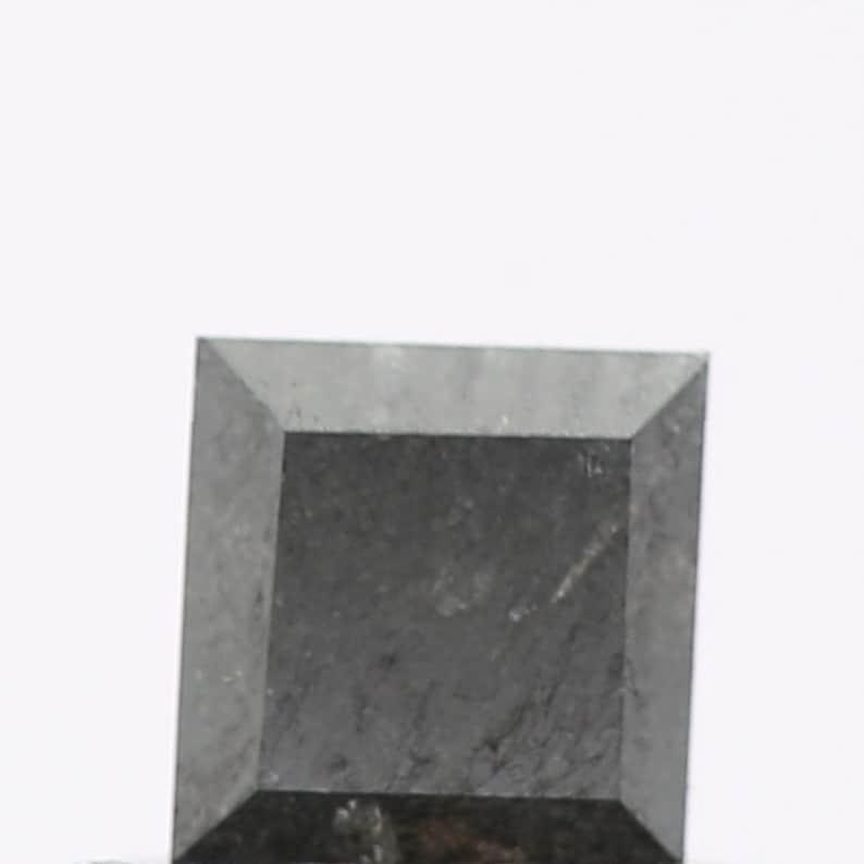 Natural Diamond 0.42 Ct Natural Loose Diamond Fancy Black Diamond Square Shape Black Diamond Engagement Ring Wholesale Diamond