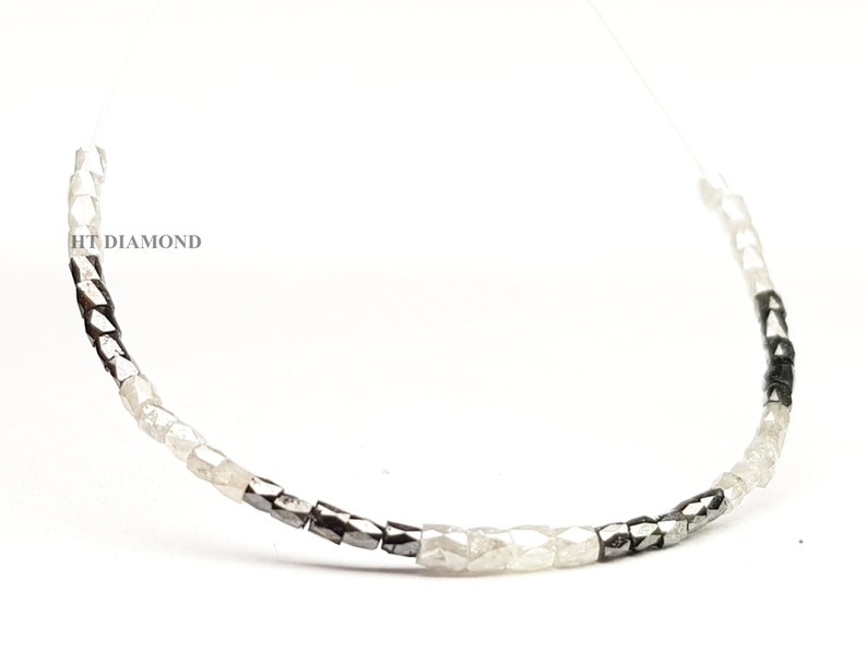 Faceted Gray Black Pipe Diamond Beads for Strand Natural Diamond Beads Natural Pipe Diamond Beads 5.00 Ct Lot Natural Loose Diamond