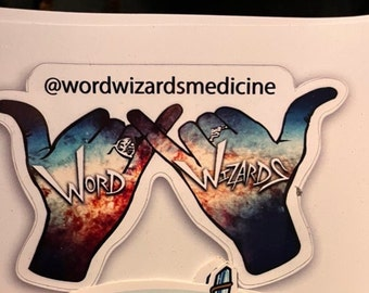 Word Wizards Large Sticker