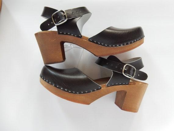 Leder Clogs, schwedische clogs, Frauen Sandalen, Sandale Holzschuhe, Heel Clogs, Geschenk für sie, Sandalen aus Leder, Leder Holzschuhe, Beige