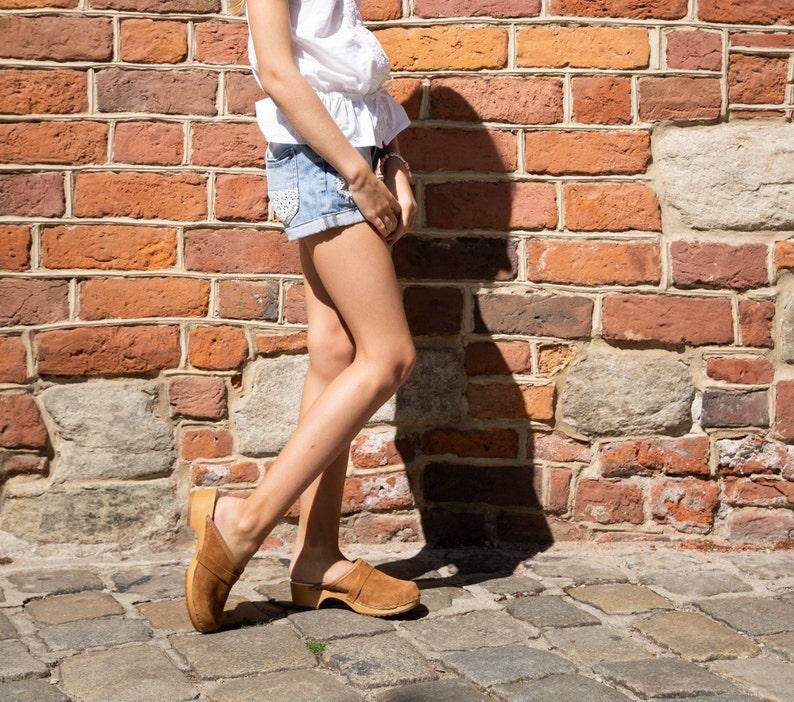 Swedish Clogs Summer women shoes Moccasins Wooden Clogs Camel Clogs  Women Sandals Low Heel Clogs Boots Womens Moccasins Women Shoes Clogs
