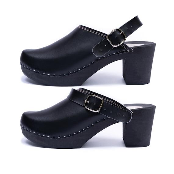 Swedish clogs Women shoes Heel clogs