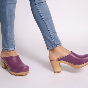 High heel clogs,Women clogs,Leather clogs,Swedish clogs,Clogs women,Leather Shoes,Clogs 8,High heel shoes,Summer women shoes,Clogs mules