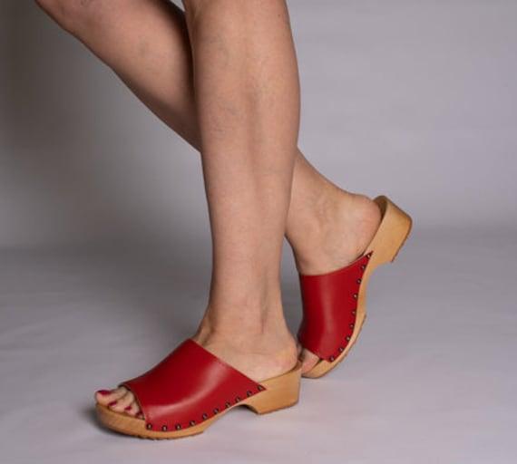 Prêt à expédier, sabots sabots sabots cuir, sabots Mules, mules en cuir pour femme, sabots sandales, sabots suédois, cadeau pour elle, sandales en cuir, fait main sabots | France  4ccb80