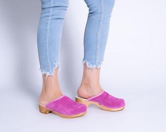 Clogs Swedish Clogs Summer women shoes Camel Clogs Women Sandals Low Heel Clogs Boots Womens Moccasins Women Suede shoes Shoes women Clogs
