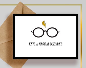 Harry Potter Gift Printable Birthday Card Digital For Her PS1008 2