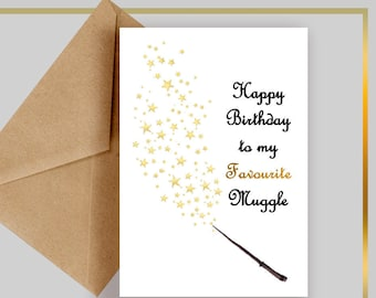 Harry Potter Birthday Card Etsy
