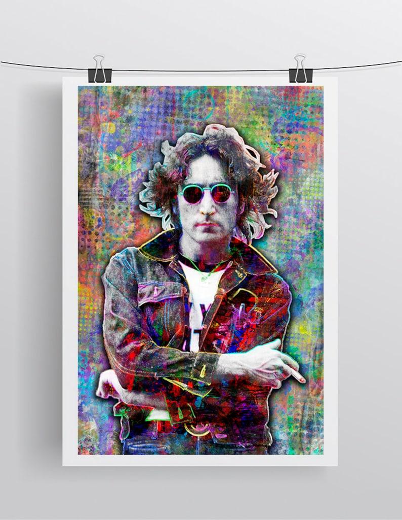 ba82a438c2792 John Lennon Print John Lennon Artwork John Lennon Tribute