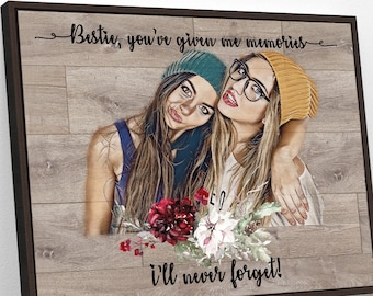 Personalized Gift Best Friend Gifts Best Friend Birthday Gifts for Her Best Friend Print Friendship Gift for Women Sister Gift Bestie gift