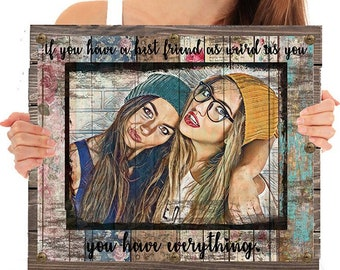wood best friend gifts personalized gift best friend birthday gift for her mom mother gift sister gift best friend christmas gift for friend - Christmas Gifts For Best Friend Female