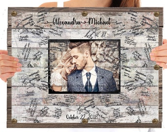 Alternative Wedding Guest Book.Ceremony Programs Stationery Party Supplies Canvas Guestbook