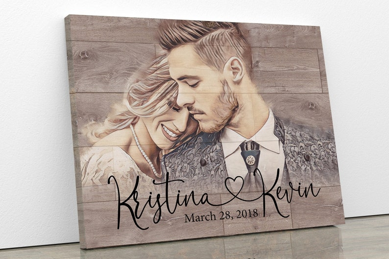 Personalized Gift Personalized Wedding Gift for Couple Bridal image 0