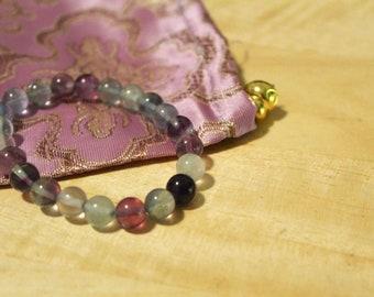 Rainbow Fluorite Bracelet 8mm - Grade A