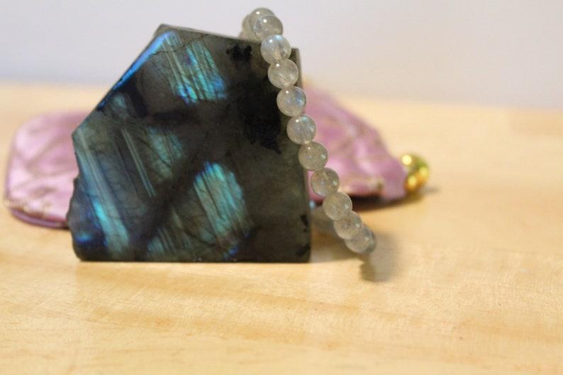 Labradorite Bracelet 6mm or 8mm Beads image 0