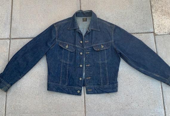Vintage Sanforized Lee 101 J Riders denim Jacket