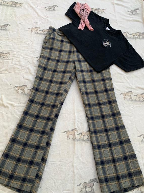 Vintage 1960s Jaymar SansaBelt Wool Plaid Pants