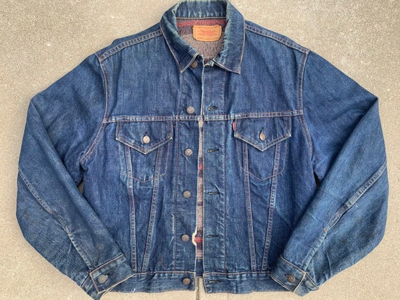Vintage 1960s Big E Levi's Troy Lined trucker