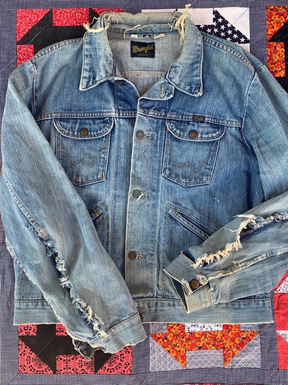 1960s Wrangler Distressed Jean Trucker Jacket