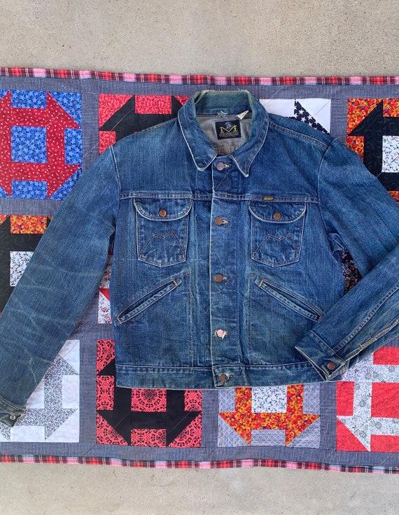 Vintage 70s Maverick trucker jean Jacket