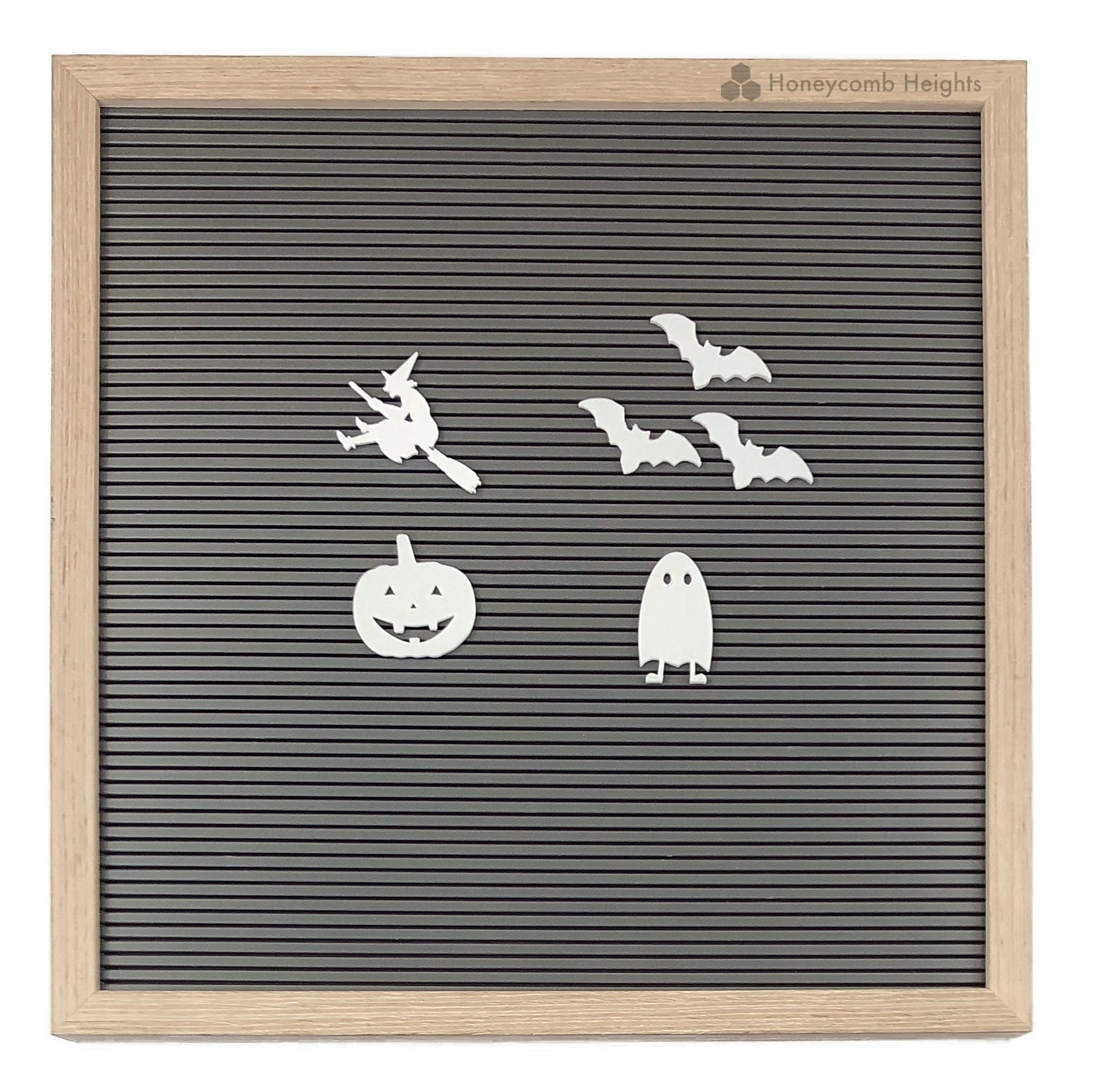 Halloween Felt Letter Board Characters White Gothic Letters /& Image Set Pumpkin