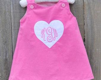 25760634086a Baby girl Valentine Corduroy dress