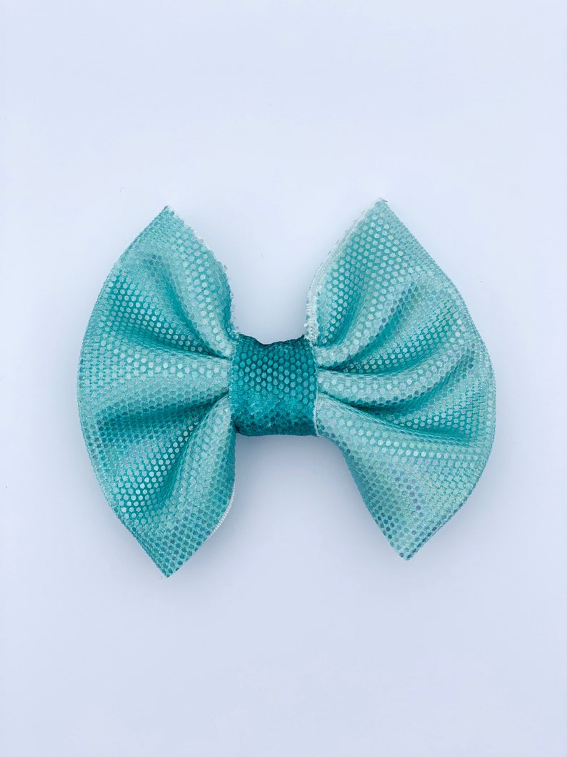 Classic Fabric Bow Blue Ombre